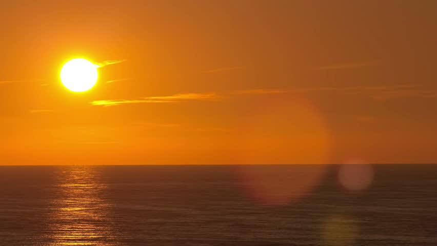 Beautiful sunset above the Black sea at Sochi  timelapse 4K #13105253