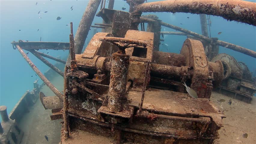 USS Kittiwake underwater shipwreck.  Grand Cayman.