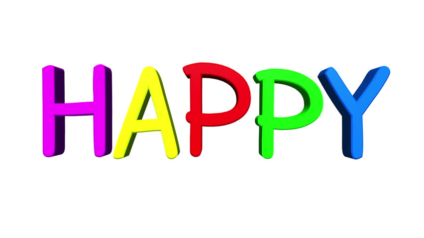 "Dancing Happy Letters Animation/The word ""Happy"" makes ..."