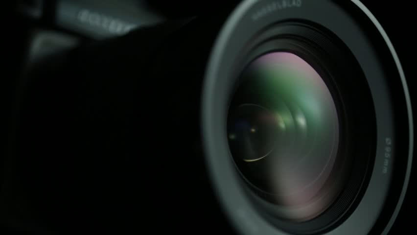 Camera Lens Reflection Macro With Color Lens Flare Stock Footage Video ... Video Camera Lens Reflection