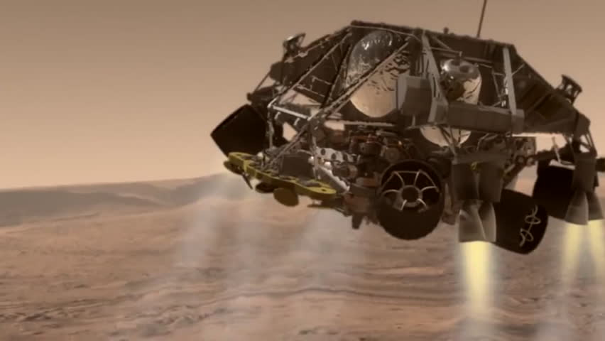 mars curiosity rover landing animation - photo #42