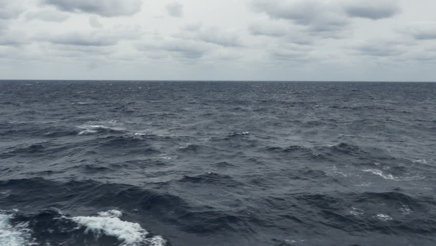 P1060284-Vast empty ocean on grey cloudy day with choppy seas and white caps in the Gulf of Mexico | Shutterstock HD Video #13363796