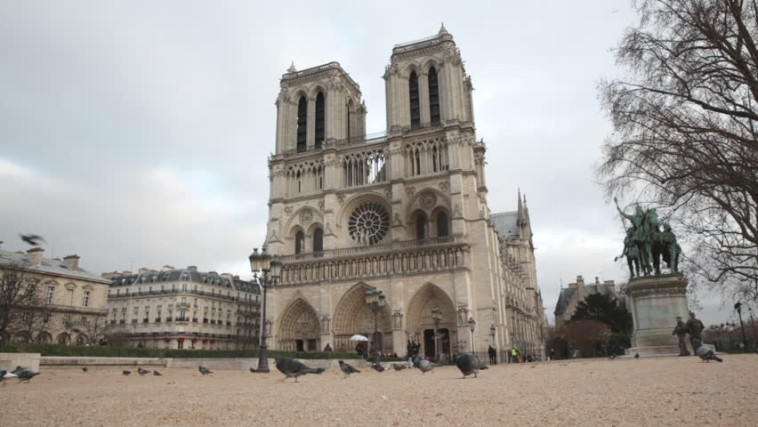 Notre dame stock footage video shutterstock for Exterior notre dame