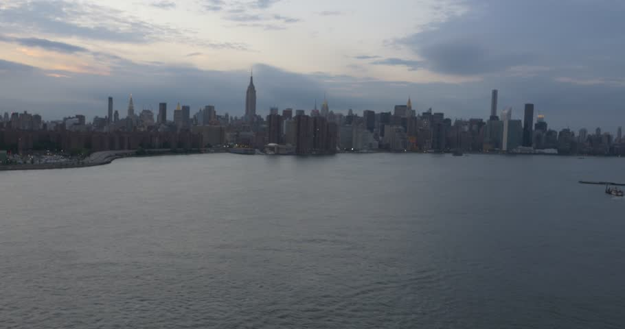 Aerial Shot of New York City from the Water ( New York City- July 2015) | Shutterstock HD Video #13398050