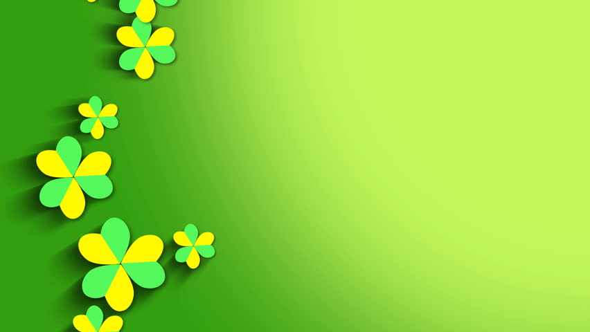 St. Patrick's animated clovers against a white background. For use as a general backdrop, design element or as an overlay for placement of text or other copy.   Shutterstock HD Video #13402271