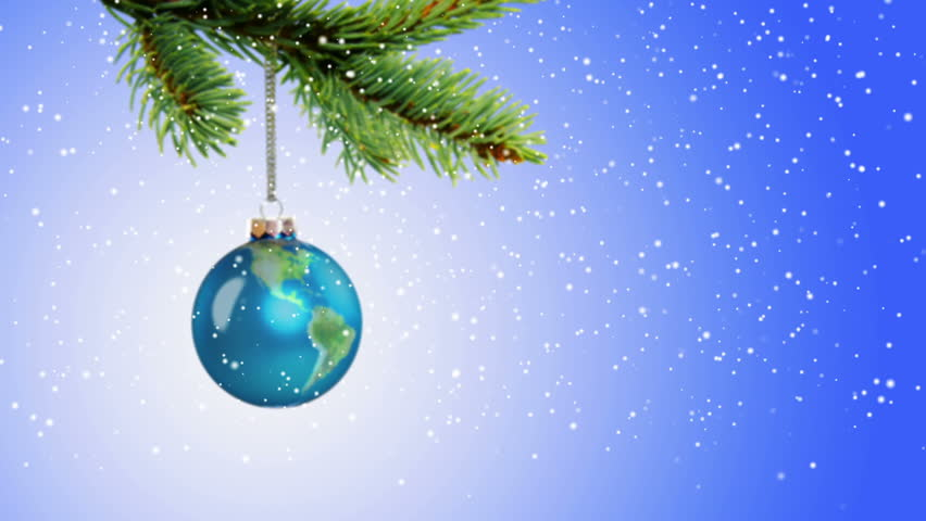 Snow Globe Christmas Tree Decorations