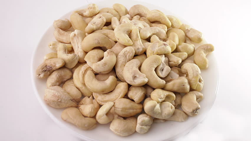 Pile of cashew nuts - HD stock footage clip