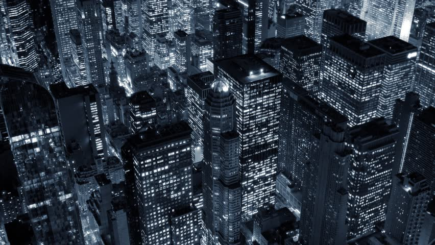 aerial view of new york city skyline. urban metropolis background. high-rise real estate buildings