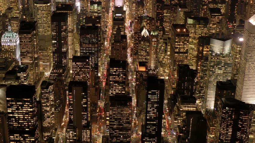 Breathtaking aerial shot of modern skyline city at night. cityscape business district. urban city background