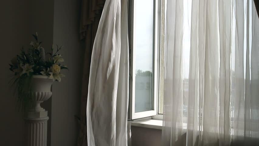 Frame Curtain Windows Stock Footage Video Shutterstock