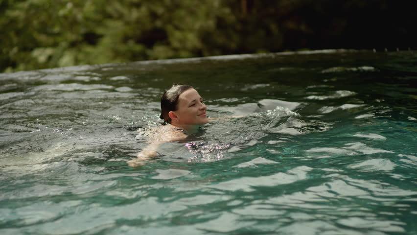 boy swimming river - photo #3