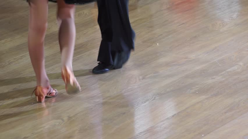 Dancers are dancing on the parquet - HD stock video clip