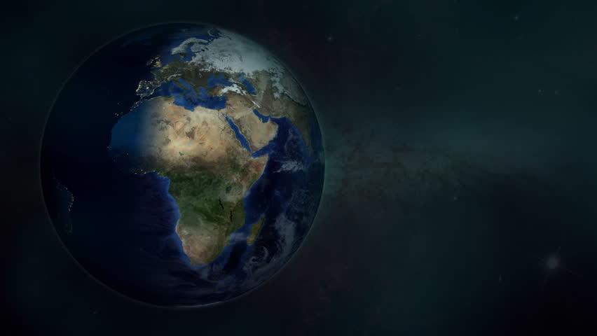 World Satellite Time-lapse Animation (4K UHD - 3D) - 4K stock video clip