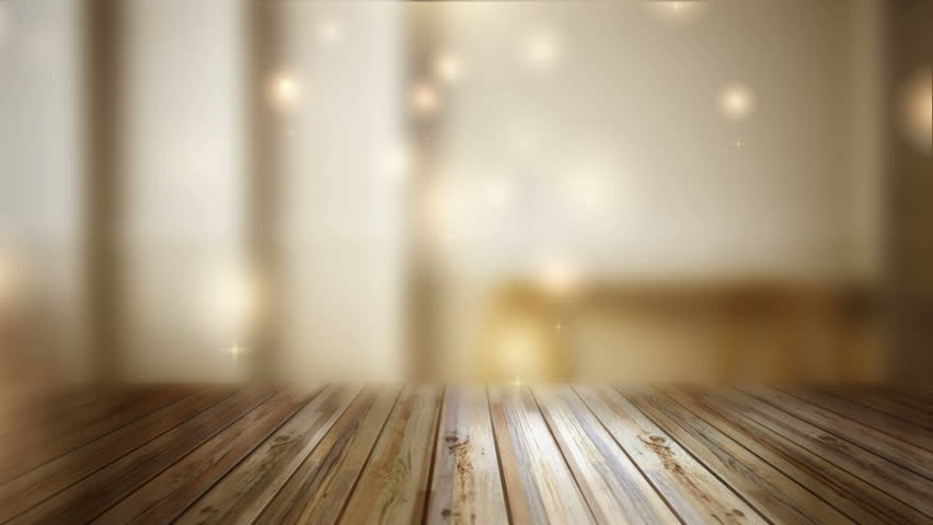 3d cloese up wood table with bokeh background stock