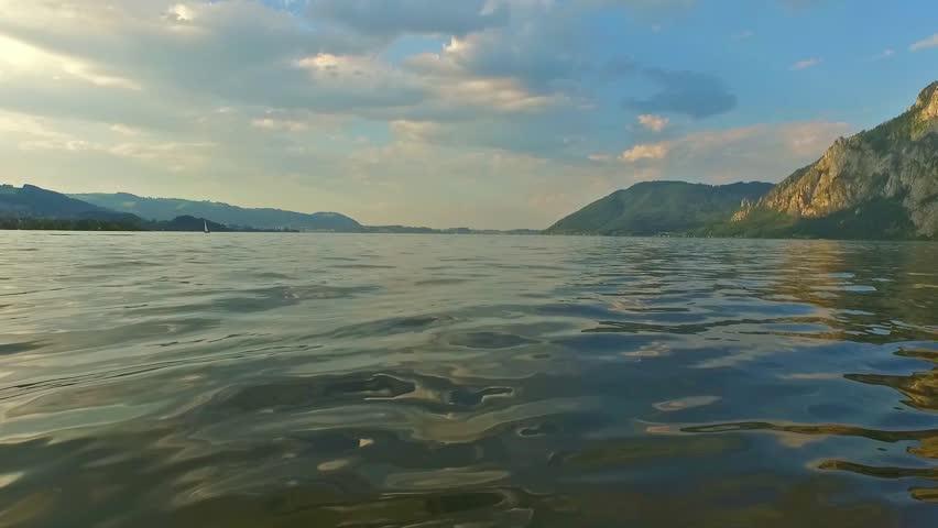 Traunsee, Summer, alpine Lake traunkirchen (Austria).   Shutterstock HD Video #13780001