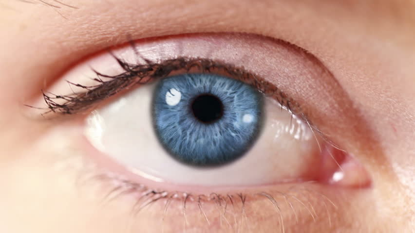 Network. Eye. Blue. Zoom in from a blue human eye to a network animation. Technology background. | Shutterstock HD Video #13807595