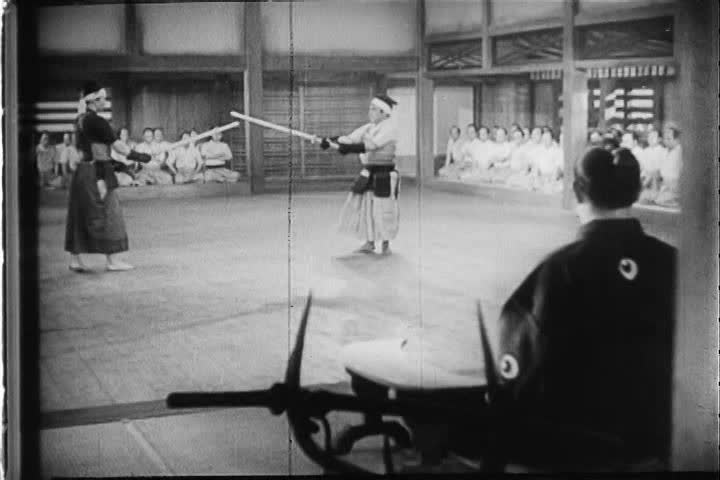 CIRCA 1940s - Sumo, judo and fencing, national sports in Japan in the 1940s, with a mix of western sports that include, tennis, golf, horse racing and baseball.