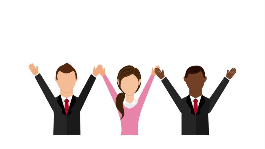 teamwork icon design video animation stock footage video