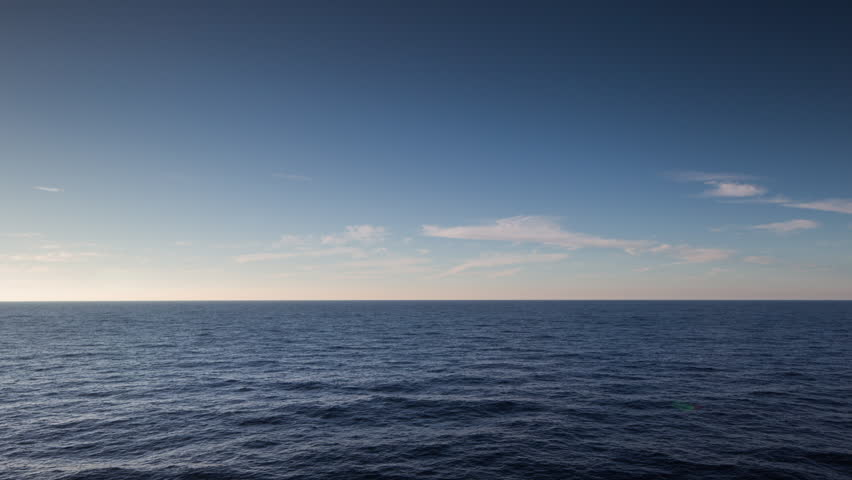 Beautiful calm shot of the sea from a ferry traveling in the Mediterranean  from the island of mallorca | Shutterstock HD Video #13925855