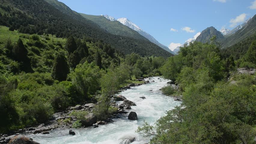 Kyrgyzstan.In Alamedin gorge.