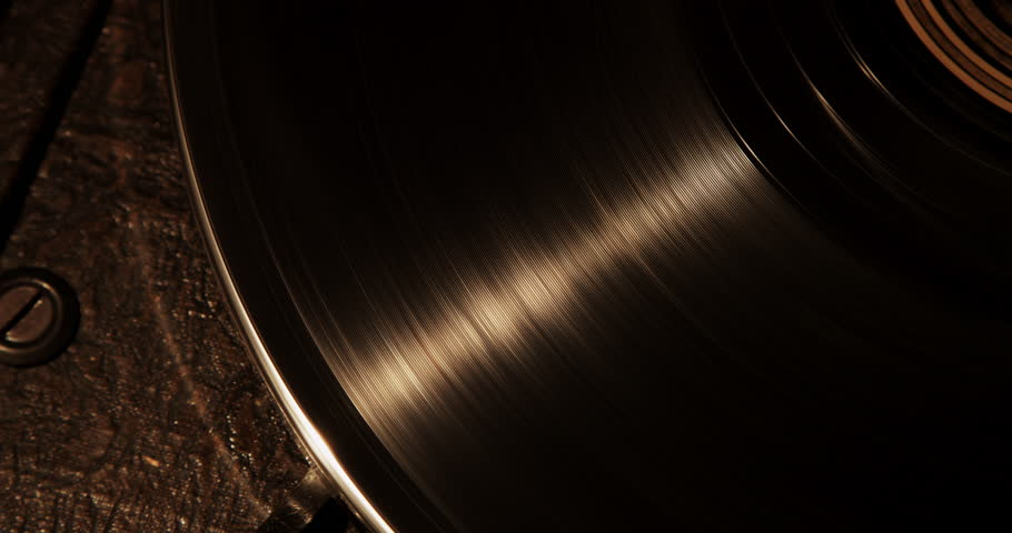 4K Vintage style record player, close up. Shot with RED DRAGON in 4K DCI native resolution.
