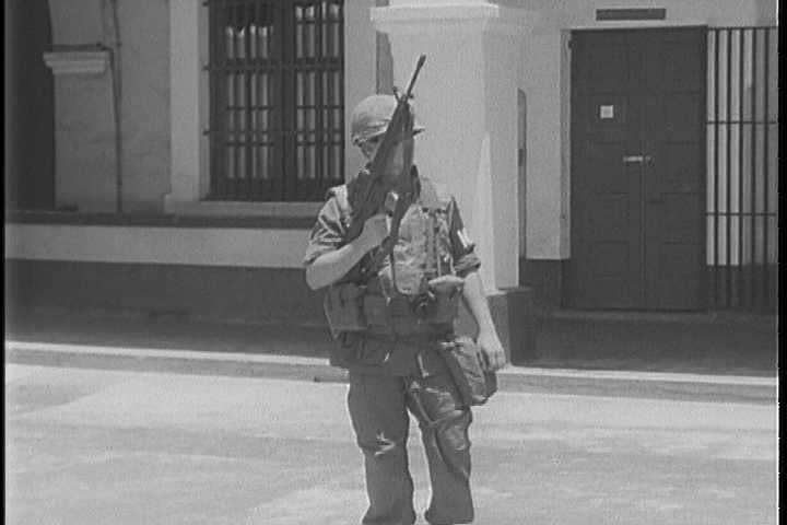 CIRCA 1960s - A United States Army interrogator utilizes the direct approach as he prepares to interrogate an enemy soldier in 1968.