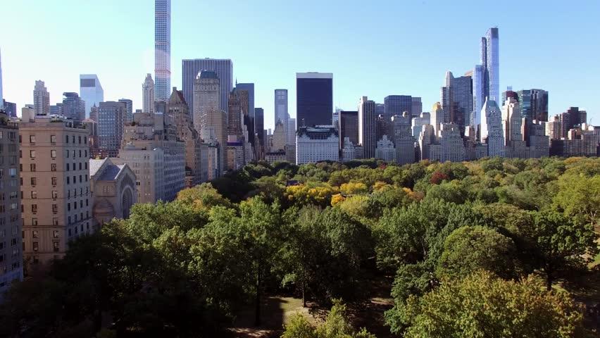Skyline city view of modern metropolis. establishment shot of cityscape background    Shutterstock HD Video #14004560
