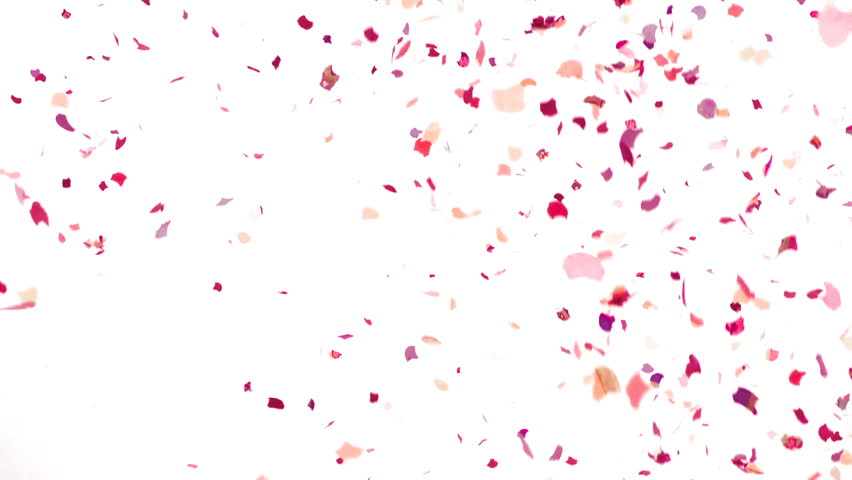 Colorful Confetti Video Background - Slow Motion - HD stock footage clip