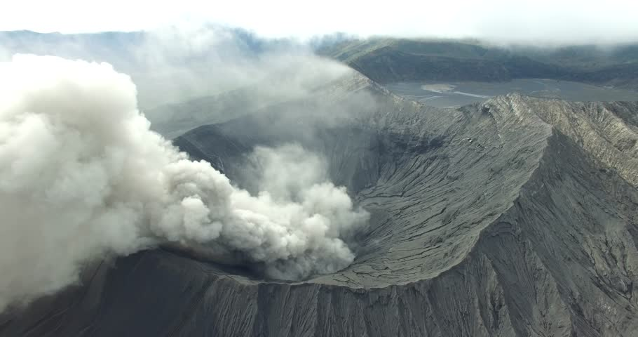 Bromo eruption - 4K stock video clip