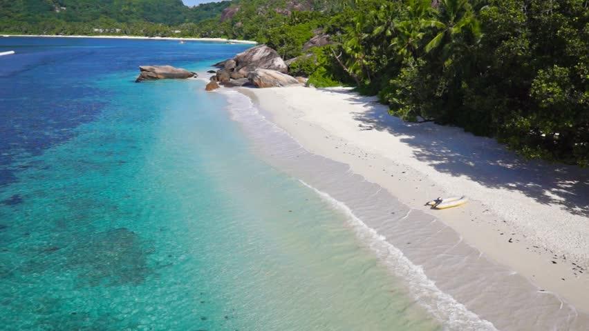 Luxury beach in Seychelles island paradise | Shutterstock HD Video #14100185