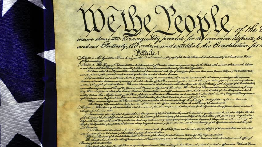 United States Bill Of Rights Preamble To The Constitution Stock ...