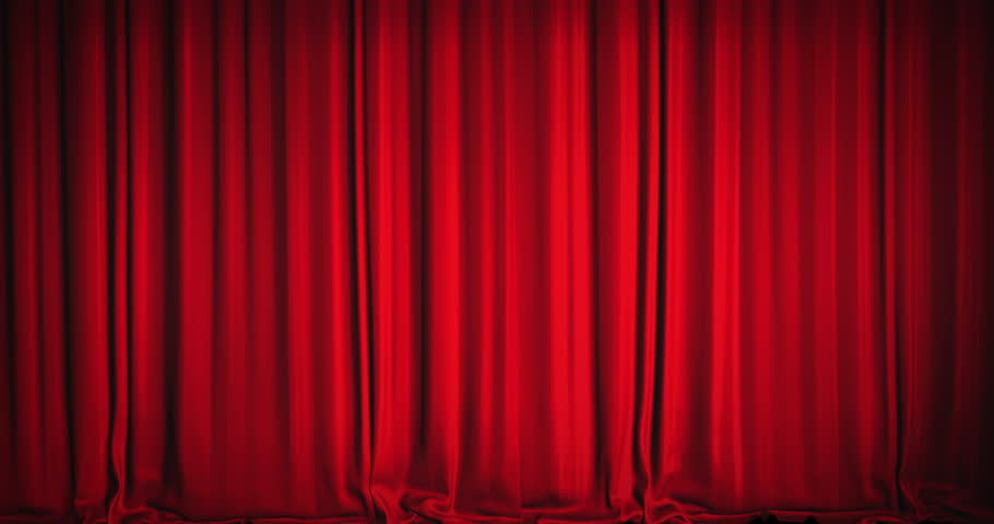 Red Velvet Curtains Video  Stock Footage