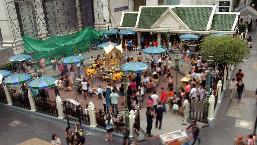 Erawan Hindu Shrine in Bangkok - HD stock video clip