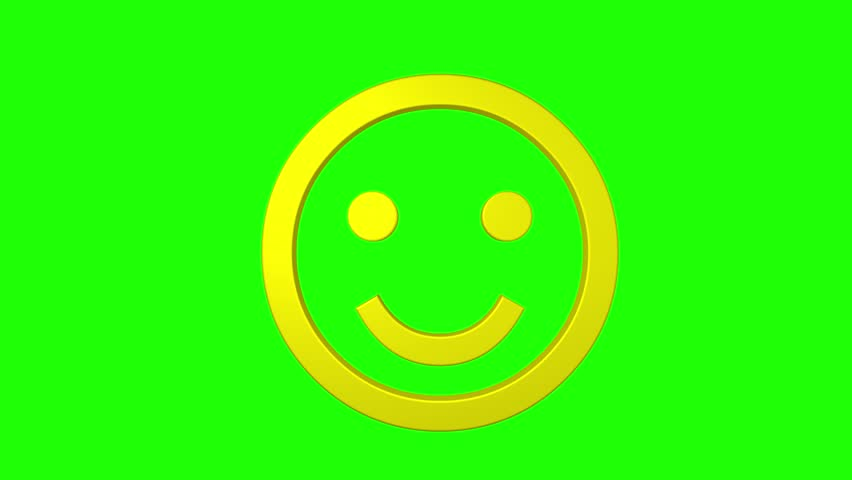 Green Smiley Face Stock Photos: Business Team Holding Smiley Face Balloons In The Office