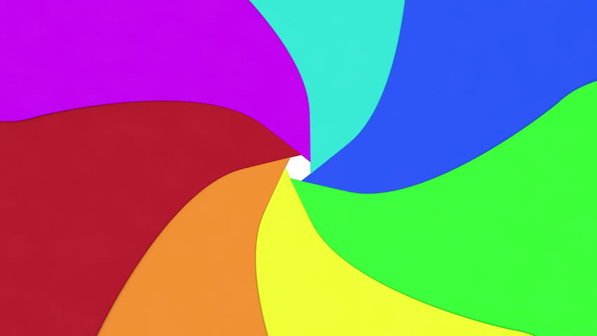 Color aperture opens and closes. Animation showing colorful aperture blades.
