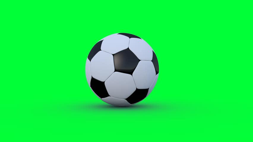 soccer ball on greenscreen