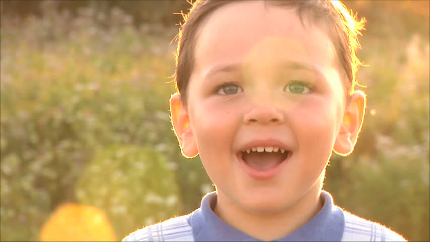 small happy boy laughing - HD stock footage clip