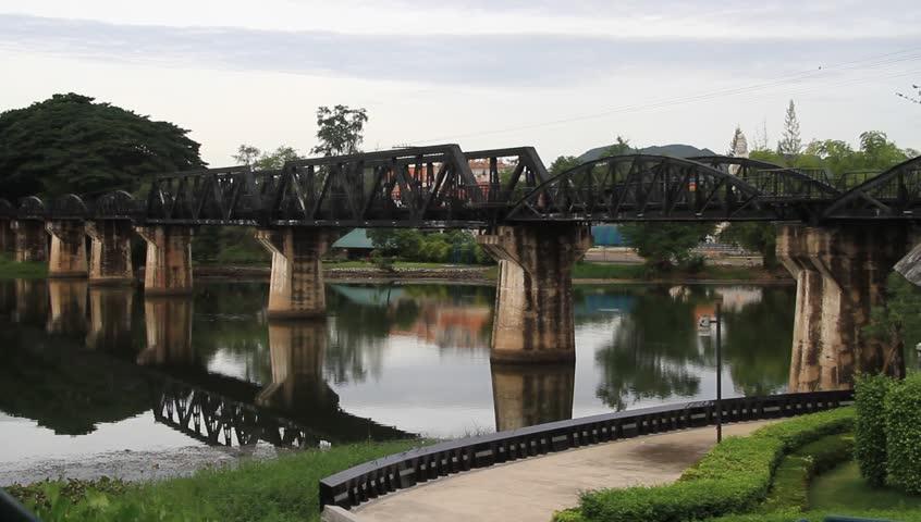 Bridge on the river Kwai in Kanchanabury