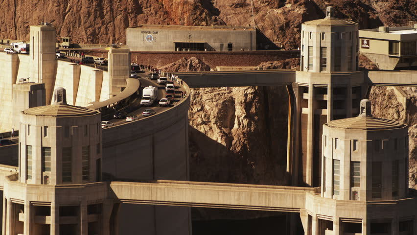 Hoover Dam - HD stock video clip