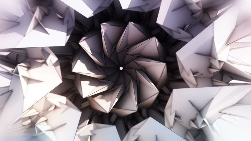 Triangle Paper Origami Background - Center