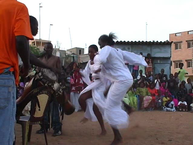 Dancers and Drummers Unleash Fire in Senegal - SD stock footage clip
