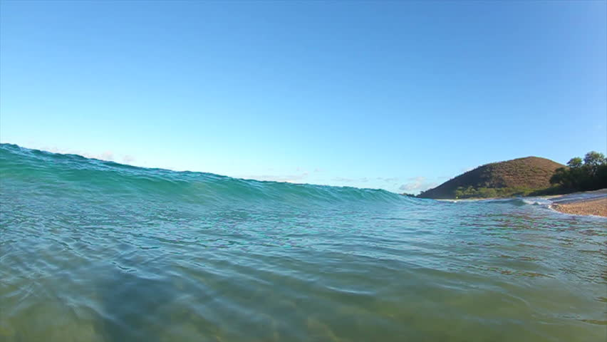 Breaking Ocean Wave, View from in the Water