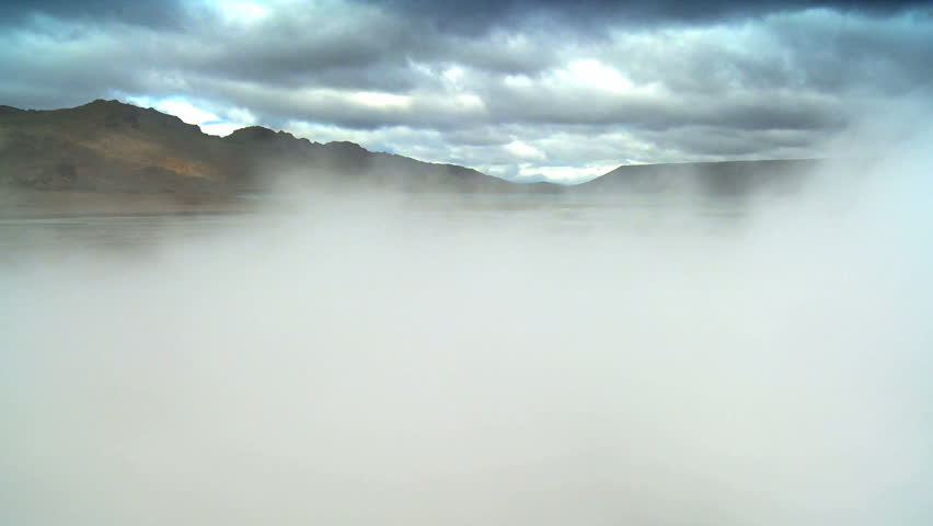 Billowing Steam From Underground Volcanic Springs