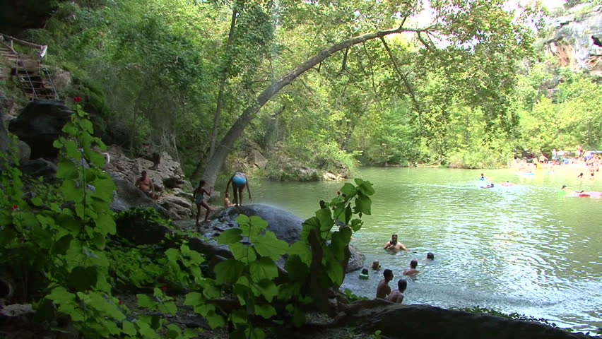 Hamilton Pool Is A Natural Pool And Austin Area Swimming Hole Stock Footage Video 1681291