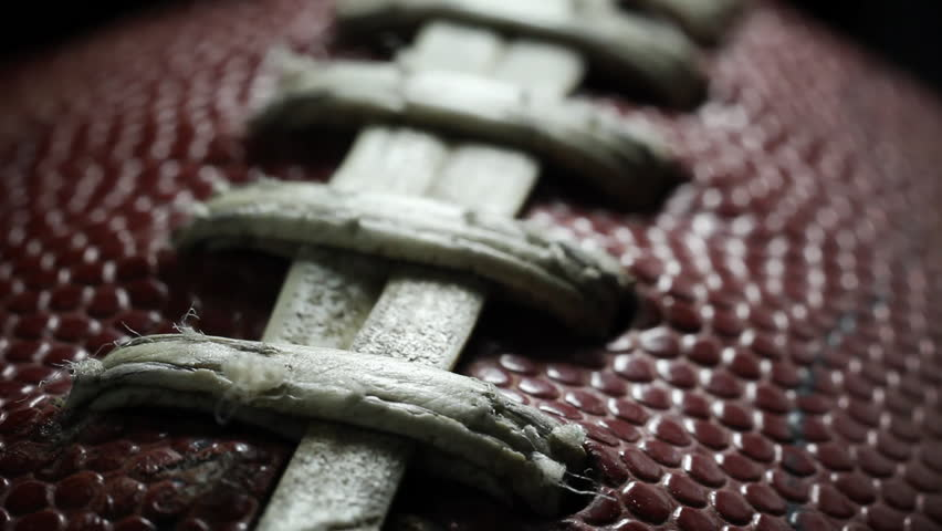 Closeup of a football