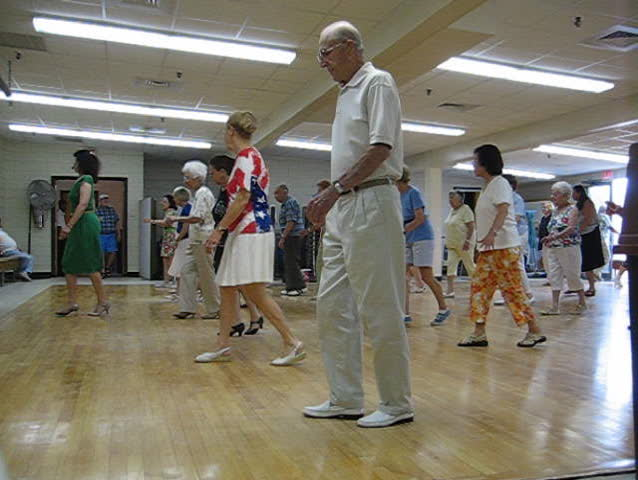 seniors dancing - SD stock video clip