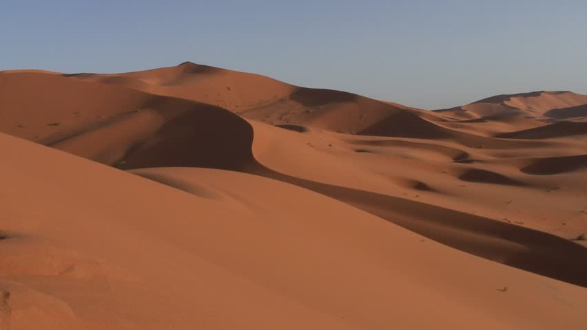 panoramic of a dune, morocco