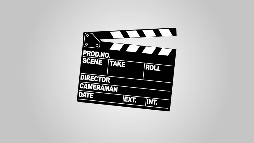 A motion picture clapboard, also called a slate
