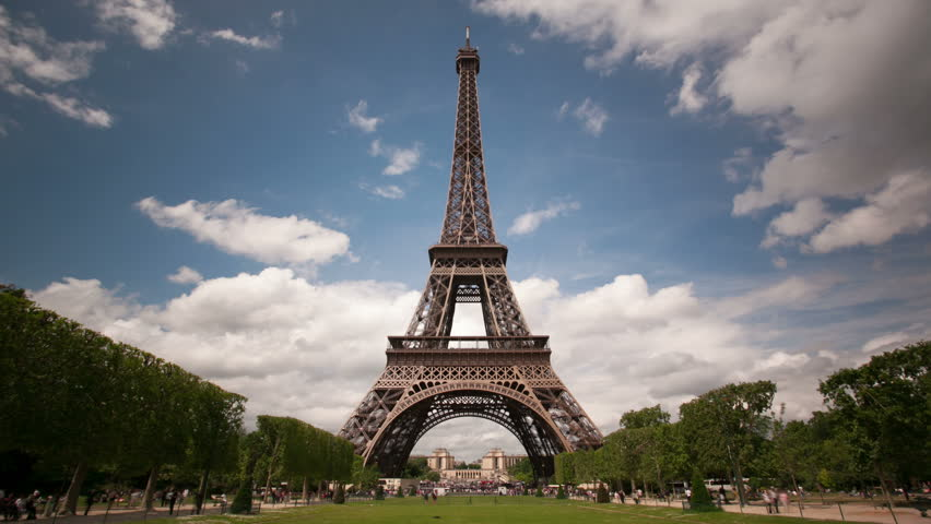 Eiffel Tower Hd Images 04547: Paris Timelapse With Eiffel Tower Stock Footage Video