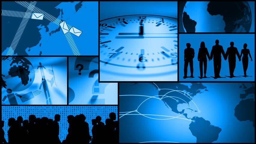Business Communication, Time, Travel Montage